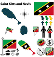 Saint Kitts and Nevis map vector image