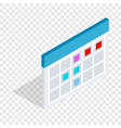Schedule isometric icon