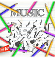 school musical background vector image