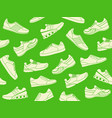 seamless background of sports shoes vector image vector image