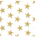 seamless pattern with golden stars glittering vector image vector image