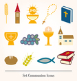 Set of a communion depicting traditio vector image vector image