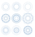Set of Blue Circle Ornaments vector image vector image