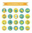 set of icons for cleaning tools house cleaning vector image vector image