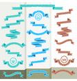 set retro ribbons vector image vector image