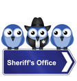 SHERIFFS OFFICE SIGN vector image vector image