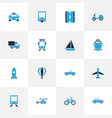 shipment colorful icons set collection of way vector image vector image