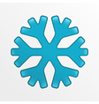 snowflake icon blue creative on light gray vector image
