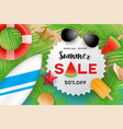 summer sale banner background design vector image
