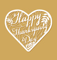 Thanksgiving laser cutting template vector image