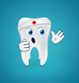 Tooth ready to fight vector image vector image
