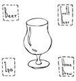 tulip beer glass hand drawn vector image vector image