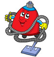 twisted vacuum cleaner vector image