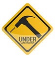 under construction signal vector image vector image
