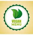 vegan menu design vector image