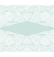 White lace Floral background ornamental flowers vector image vector image
