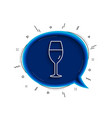 wine glass line icon burgundy glass sign vector image vector image