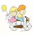 Young couple spends time together vector image vector image
