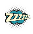 Zzz comic word vector image