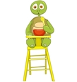 Funny Turtle Baby Eating vector image