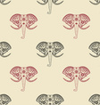 Seamless pattern with elephant heads vector image