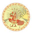 fiery cock vector image