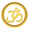 Hindu om symbol icon vector image