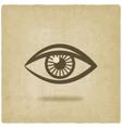 eye symbol old background vector image
