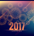 beautiful 2017 celebration greeting card design vector image vector image