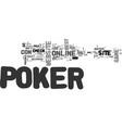best online poker site text word cloud concept vector image vector image