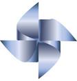 blue pinwheel vector image vector image