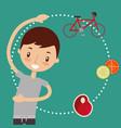 boy and girl healthy good habits vector image