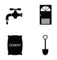 builder icon set vector image