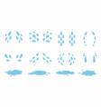 cartoon tear drops and puddles set sorrow weeping vector image vector image
