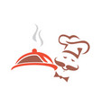 chef cooky food bakery logo icon vector image