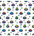 childish ufo aliens cartoon seamles pattern vector image vector image