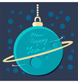 Christmas planet bauble with New Year greeting vector image