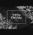 christmas wreath frame hand drawn vector image vector image