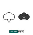 cloud download icon set isolated on white eps 10 vector image vector image