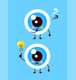 cute eyeball with question mark vector image vector image