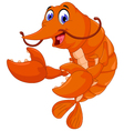 cute shrimp cartoon for you design vector image