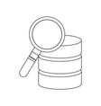 database search data center icon image vector image vector image