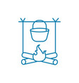 dixie on fire linear icon concept dixie on fire vector image vector image