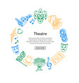 doodle theatre elements vector image vector image
