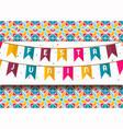 festa junina card colorful carnival flags vector image
