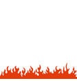 fire and flame graphic design template vector image vector image