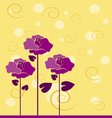 flowers with flourishes vector image