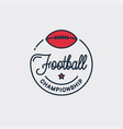 football champion logo off american logo vector image