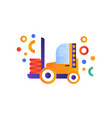 forklift truck warehouse industrial machinery vector image vector image