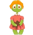 Funny Turtle Baby Girl vector image